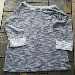 Columbia Brand Grey Crewneck 3/4 Sleeve Sweater S